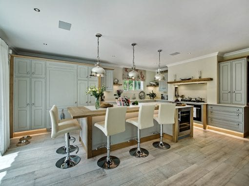 Kitchen Facet Bead Grey and White