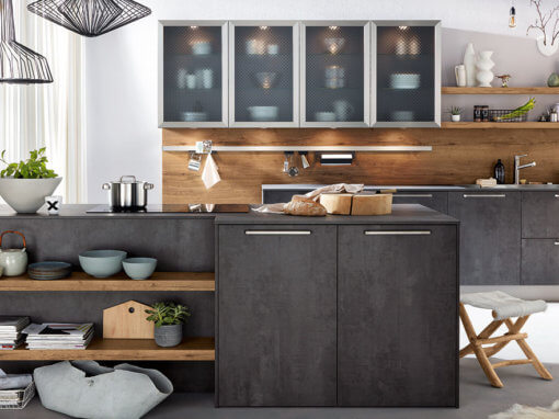 Kitchen Co – Concrete Graphite Natural Vintage Oak