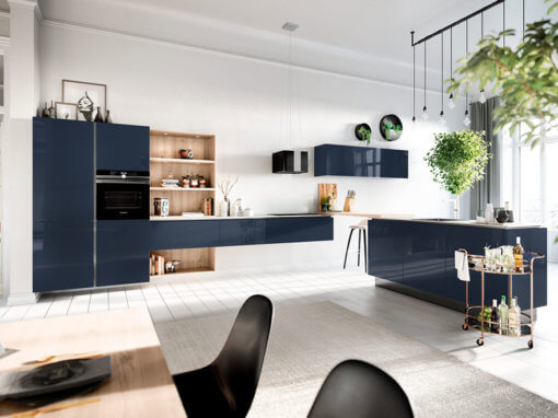Kitchen Co – Velvet Blue High Gloss Lacquer